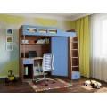 Детская кровать-чердак для детей от 3 лет Астра-7 Дуб Шамони