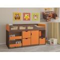 Детская кровать-чердак для детей от 3 лет Астра-8 Дуб Шамони