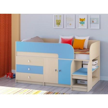 Детская кровать-чердак для маленьких комнат Астра-9/1 Дуб Молочный