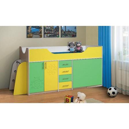 Кровать одинарная комбинированная (детская)