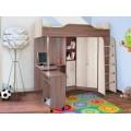 Детская кровать-чердак Бриз-1 80х190, правая/левая
