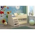 Детская кровать от 3 лет Юниор-3 МДФ ваниль (700х1400)