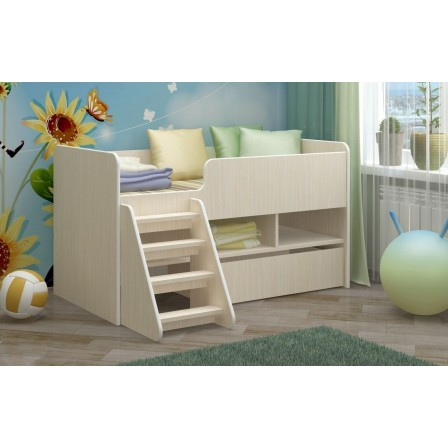 Детская кровать-чердак Юниор-3 ЛДСП (700х1400)