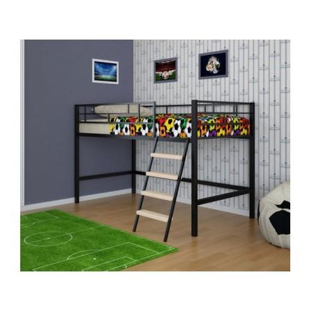 Детская кровать-чердак из металла для подростка Ассоль 4С