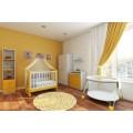 Кроватка для новорожденных Фея 621, белый / солнечный