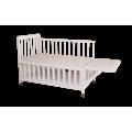 Кроватка для новорожденных Фея 403, белый, мед