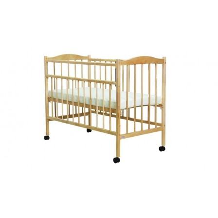 Кроватка для новорожденных Фея 203, орех, натуральный, мед