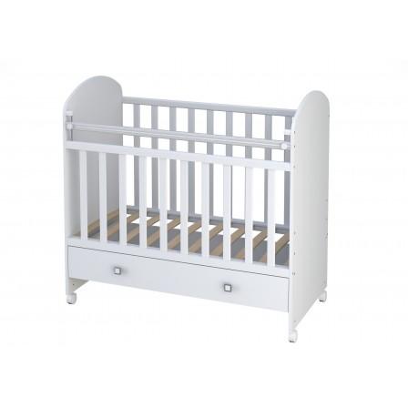 Кроватка для новорожденных Фея 700, белая