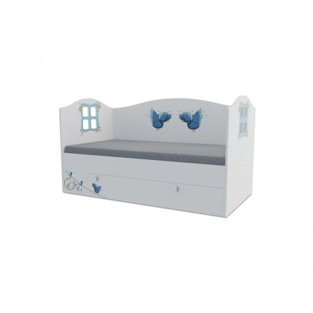Детская кроватка-домик Мишка boy Домик KD-16Y (ящик ЛДСП выкатной)