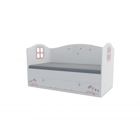 Детская кроватка-домик Мишка girl Домик KD-16Y (ящик ЛДСП выкатной)