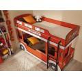 Двухъярусная детская кровать-машинка Автобус 1