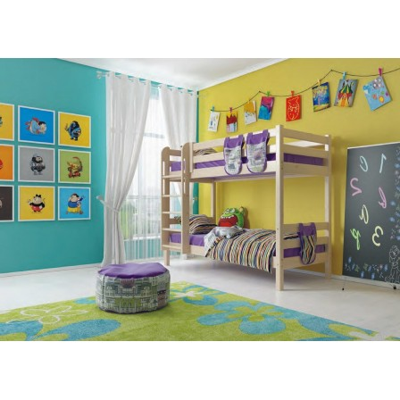 Двухъярусная детская кровать Соня с прямой лестницей (вариант 9)