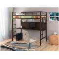 Металлическая кровать-чердак с письменным столом Севилья-1