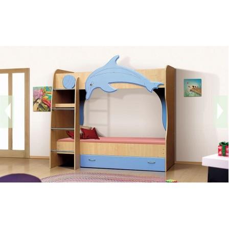 Детская двухъярусная детская кровать Vitamin А (70 х 190), МДФ