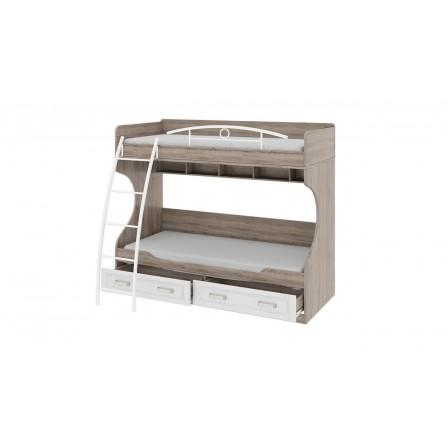 Двухъярусная детская кровать Прованс СМ-223.11.002 (с металлической лестницей)