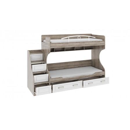 Двухъярусная детская кровать Прованс СМ-223.11.001 (с приставной лестницей)