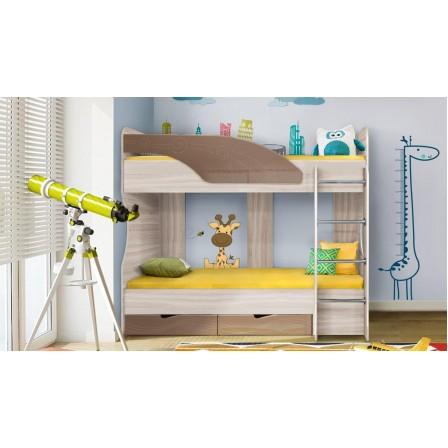 Двухъярусная детская кровать Бриз-5 80х190