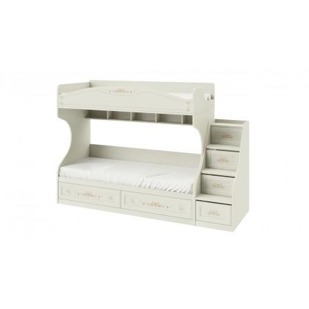 Кровать Лючия СМ-235.11.01 двухъярусная с лестницей