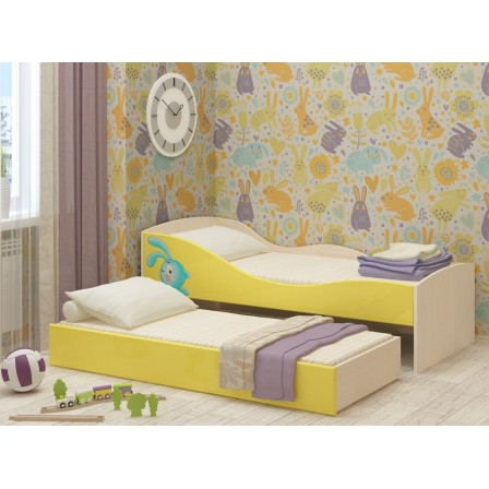 Детская двухъярусная детская кровать Юниор-10 МДФ (800х1600)