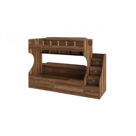 Кровать Навигатор СМ-250.11.12 двухъярусная с приставной лестницей