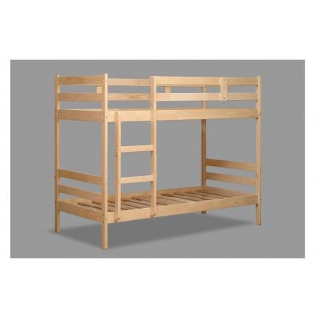 Кровать двухъярусная ЭКО-12 из массива (80*190)