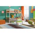 Двухъярусная детская кровать Соня с наклонной лестницей (вариант 10)