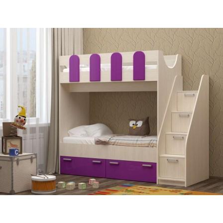Кровать двухъярусная Бемби-11 МДФ
