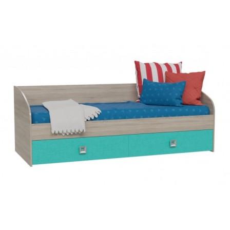 Детская угловая кровать-диван Сити Аква 1
