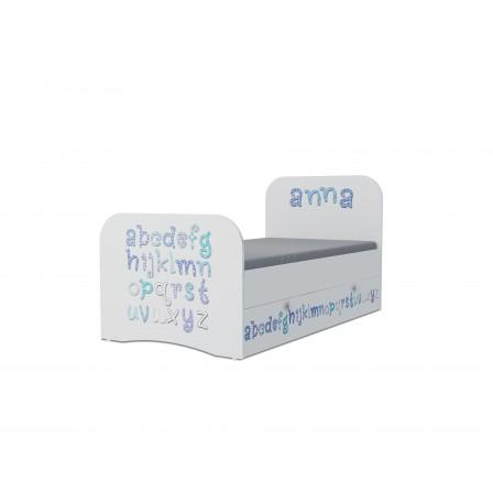 Детская кровать Алфавит Стандарт KE-16Y (ящик ЛДСП выкатной)