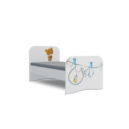 Детская кровать от 3 лет Мишка boy Стандарт KE-16