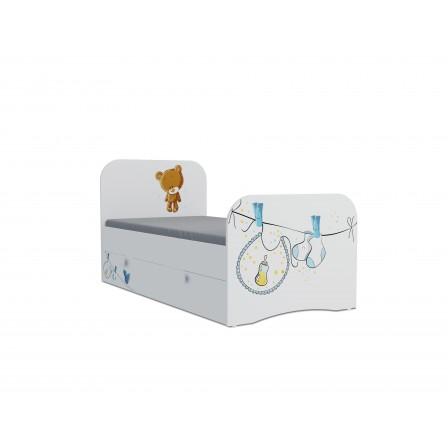 Детская кроватка Мишка boy Стандарт KE-16Y(ящик выкатной)