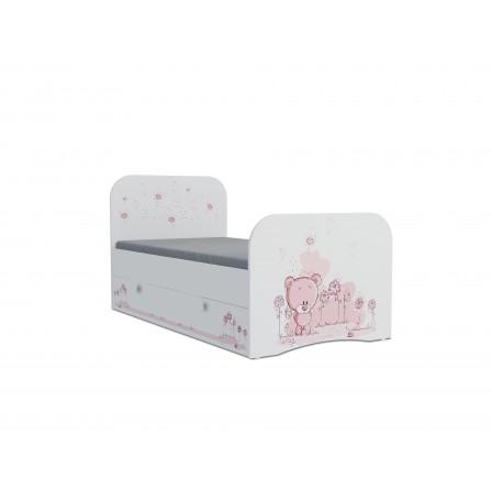 Детская кроватка Мишка girl Стандарт KE-16Y(ящик ЛДСП выкатной)