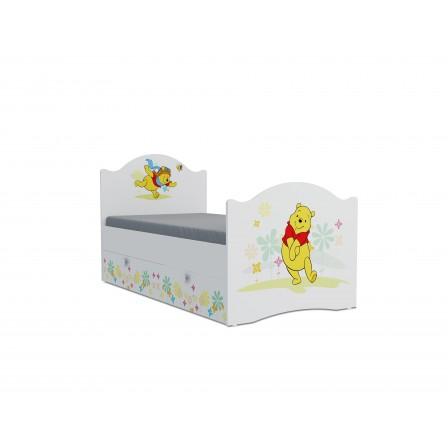 Детская кровать от 3 лет Винни Пух Эксклюзив KХ-16Y (ящик ЛДСП выкатной)