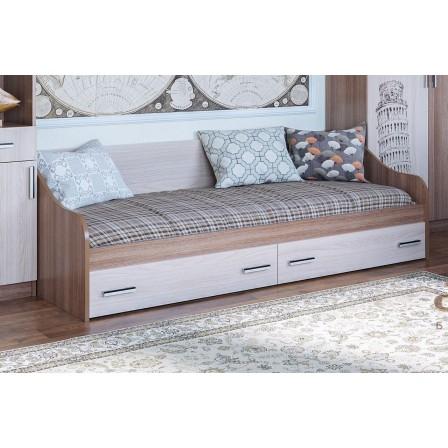 Детская кровать-диван Город с ящиками (900 х 2000)