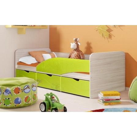 Детская кровать Бриз-3 80х190 (лайм волна)