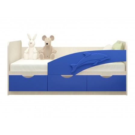 Детская кровать-диван Дельфин 80х180, салатовый металл