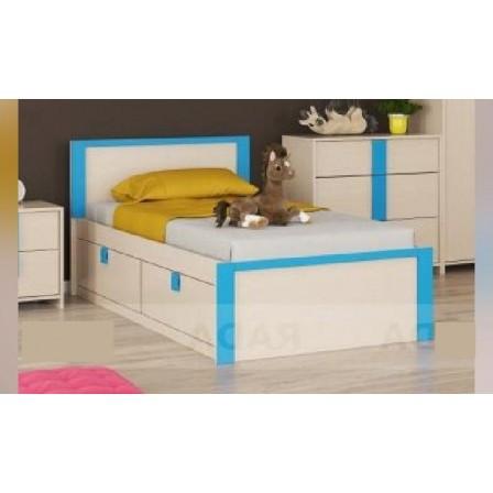 Детская кровать от 3 лет Пионер с ящиками на 900, индиго