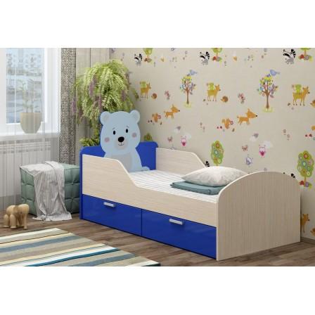 Детская кровать Бемби-5 МДФ с фотопечатью (80х160)