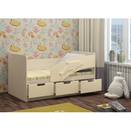 Детская кровать-диван Дельфин-6 МДФ (80х180)