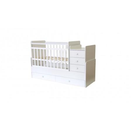 Кроватка-трансформер Фея 1100, белая