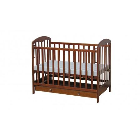 Кроватка-маятник Фея 325, орех, натуральный, мед