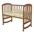 Кроватка-маятник Фея 304, орех, натуральный, мед