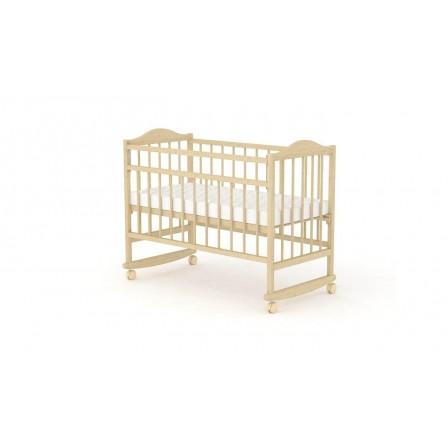 Кроватка-маятник Фея 204, орех, натуральный, мед