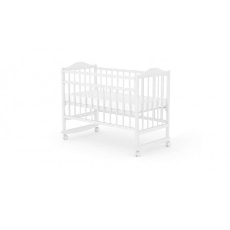 Кроватка-маятник Фея 204, белый, беж