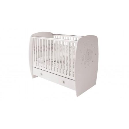 Кроватка-трансформер Polini French 710 с ящиком, Amis, Teddy