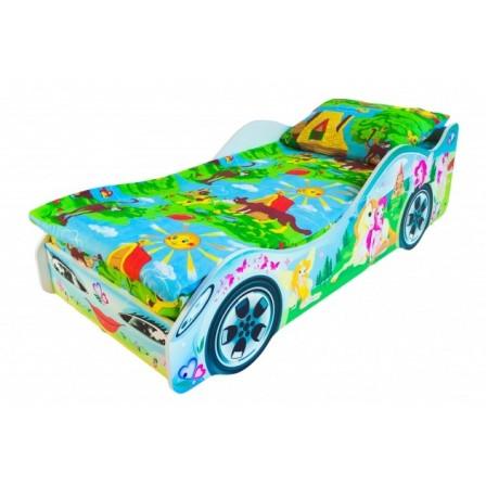Детская кровать-машина для девочки Принцесса Бель