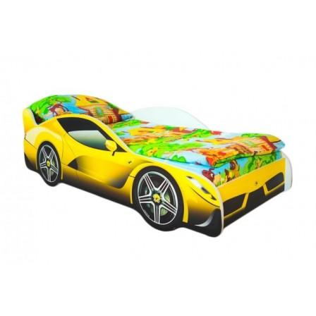 Детская кровать-машина с подсветкой Феррари