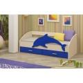 Детская кровать от 3 лет Дельфин-4 МДФ ваниль (80х160)