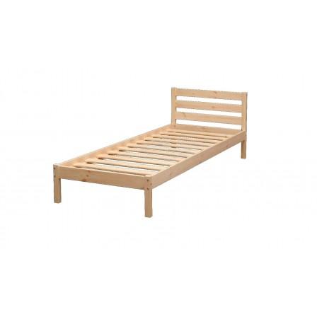 Детская кровать от 3 лет ЭКО-7 из массива с укороченной спинкой (80*170)