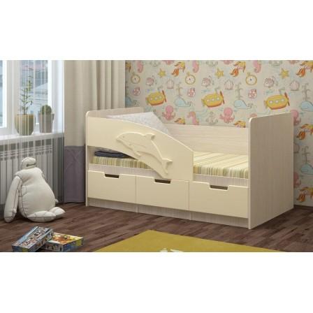 Детская кровать от 3 лет Дельфин-6 МДФ (80х160)